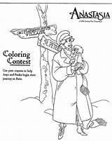 1997 Anastasia Coloring Paper Dolls November sketch template