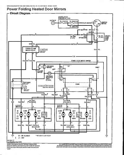 1996 Honda Civic Wiring Diagram Power Window by The Definitive 92 95 Civic Power Folding Heated Mirrors