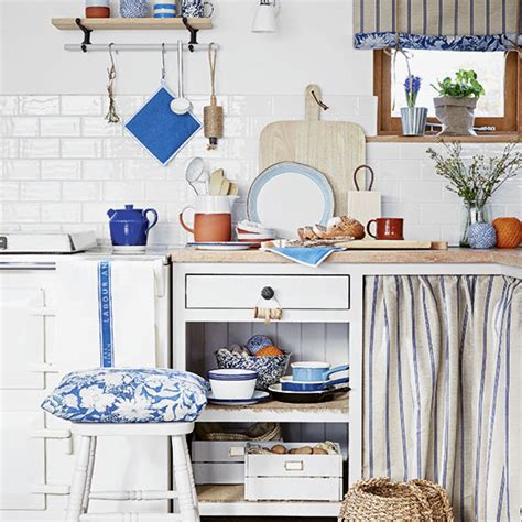 blue and white country kitchen rustic kitchen ideas ideal home 7928