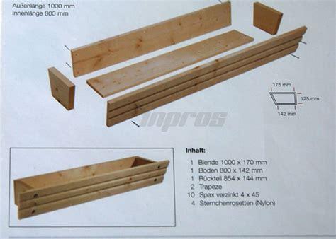 Balkonkästen Aus Holz by Blumenkasten Pflanzkasten Holz Unbehandelt