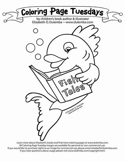 Coloring Pages Teacher Library Ever Books Tuesday