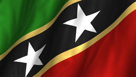 Flag Of Saint Kitts And Nevis Stock Footage Video 3703025