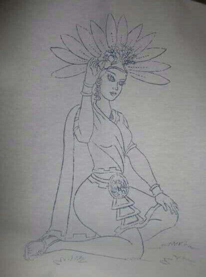 aztecas dibujos ideas  pinterest arte