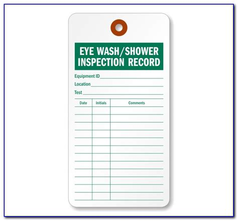 Eyewash station checklist template is not the form you're looking for?search for another form here. Monthly Eyewash Inspection Form - Form : Resume Examples #aZDYjnA579
