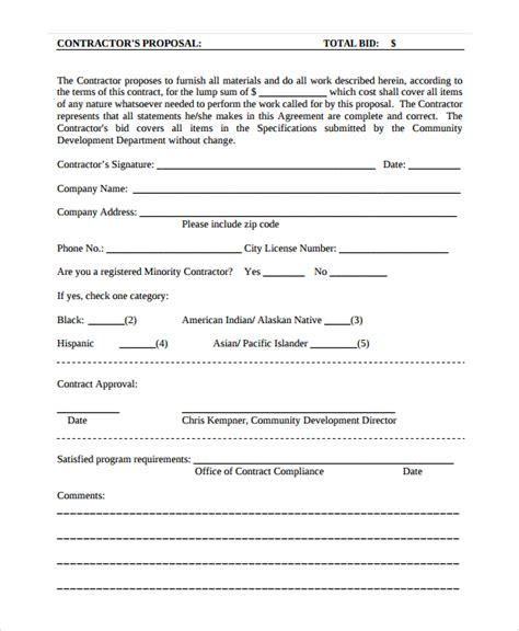 Staging Contract Template Free Independent Contractor Estimate Template Templates Resume