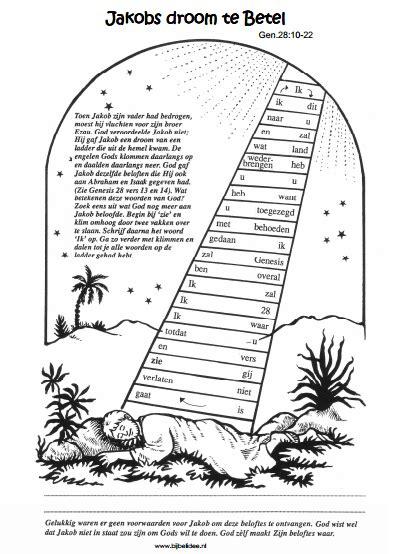 Jacob En Ezau Kleurplaat by Jakob S Droom Ladder Sunday School Bijbelknutselwerk