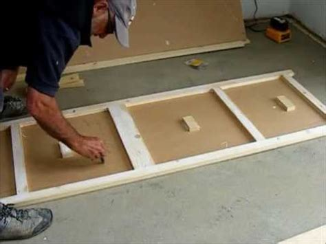 how to make cabinet doors out of mdf make a pair of flush wardrobe doors youtube