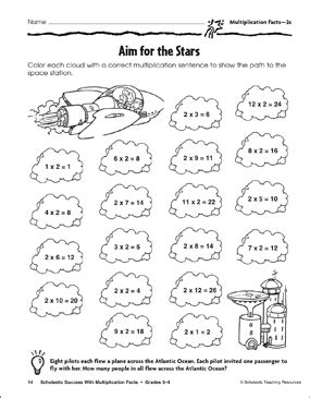 aim for the multiplication facts 2s printable