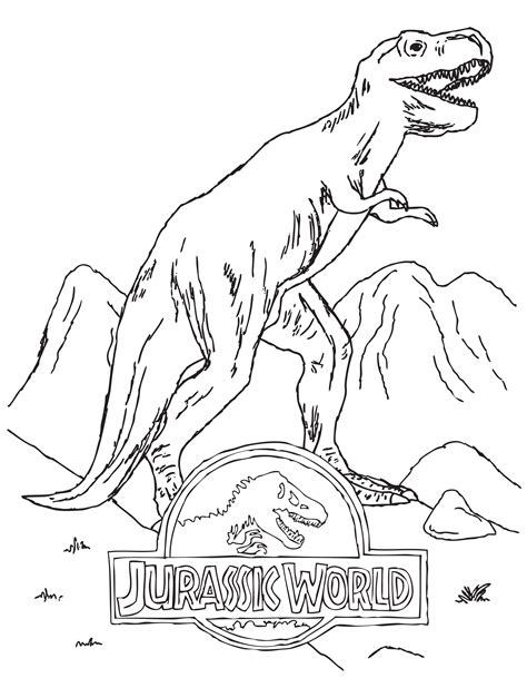 jurassic world dinosaur coloring pages doodles ave