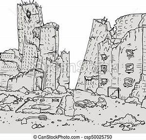 Creative design of city destroyed clipart vector - Search ...