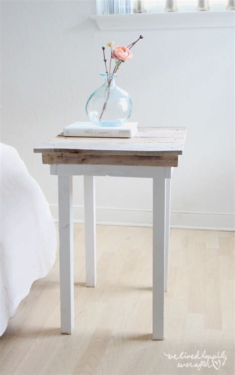 Nightstand Blueprints by White Diy Pallet Nightstands Featuring We Lived