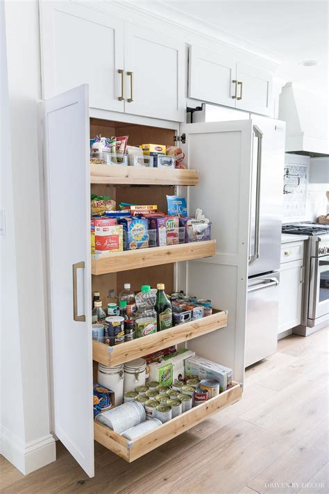 Roll Out Kitchen Pantry Cabinet by Cabinet Storage Organization Ideas From Our New Kitchen