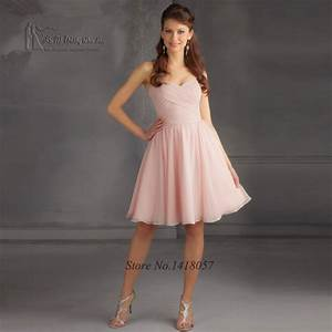light pink cheap bridesmaid dresses short 2017 china With light pink dress for wedding guest