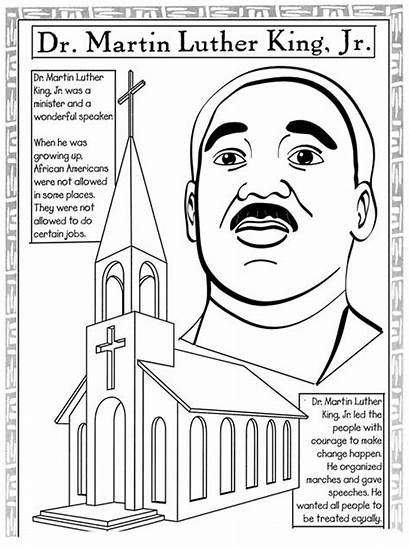 Luther Martin King Worksheets Coloring Jr Pages