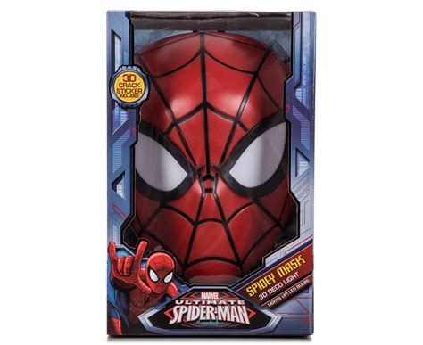 3d Marvel Spiderman Mask Wall Light  Red Ebay