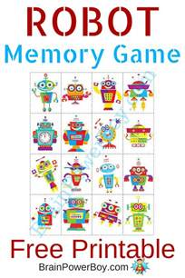 printable for robot memory free