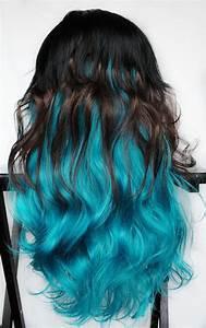 FELINE BLUE wig // Black Brown Turquoise Teal Hair ...
