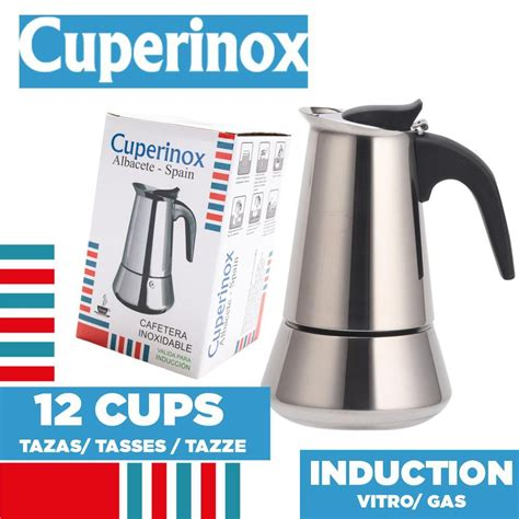 Coffeemakers or coffee machines are cooking appliances used to brew coffee. CUPERINOX Kettle Italian Induction   12 cups SALE Coffee Makers Shop   BuyMoreCoffee.com