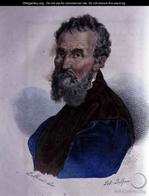 Portrait Of Michelangelo Buonarroti   Dolfino