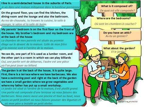 description d une chambre en anglais dialogue bilingue décrire sa maison anglais