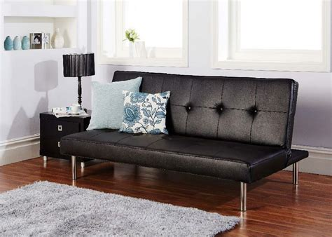 Settee Beds Sale by Brand New Click Clack Faux Leather Sofa Bed On Sale