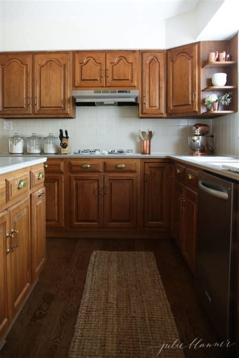 oak kitchen cabinet makeover a simple kitchen makeover without paint 3571