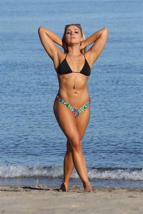 gabby allen   bikini enjoying  beach