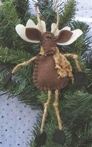 Felt Moose Ornament Christmas