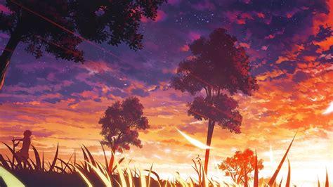 Anime Orange Wallpaper - landscape purple orange wallpapers hd desktop and