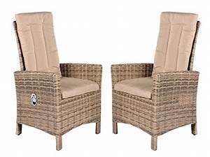 Polyrattan Sessel Verstellbarer Rückenlehne : m bel24 2er set polyrattan verstellbar sessel beige grau inkl kissen gartenstuhl esszimmer ~ Bigdaddyawards.com Haus und Dekorationen