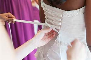 Diy wedding dress video how to lace up corset back wedding for How to make a wedding dress