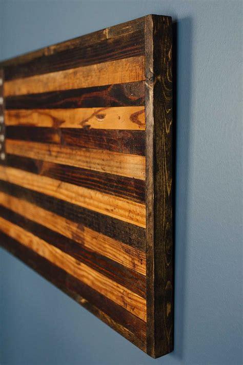 reclaimed barnwood rustic american flag home decor