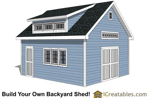 Shed Plans 16x20 Free by Storage Shed House Plans
