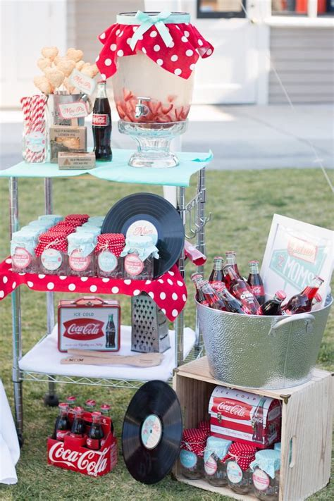 karas party ideas retro diner themed mothers day party