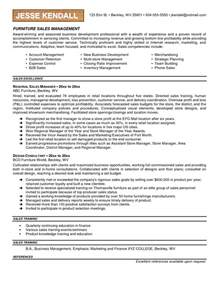 great exles of sales resumes furniture sales resume exles search resumes resume exles
