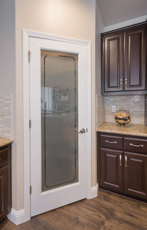 kitchen interior doors frosted glass pantry door in kitchen design by