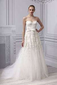 spring 2013 wedding dress monique lhuillier bridal gown With lace drop waist wedding dress
