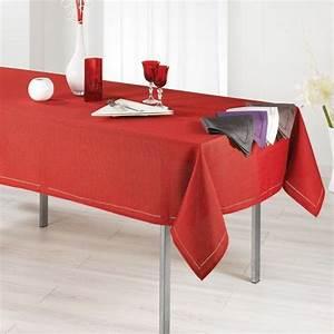 Nappe Table Rectangulaire : nappe rectangulaire l240 cm elegance rouge linge de ~ Teatrodelosmanantiales.com Idées de Décoration
