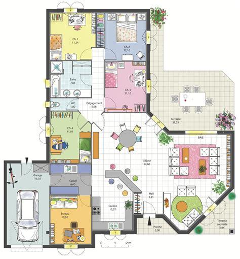 bureau de maison design maison familiale 4 chambres avec bureau terrasse garage