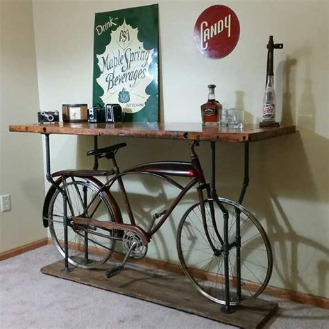 butcher block bike table inspired finds