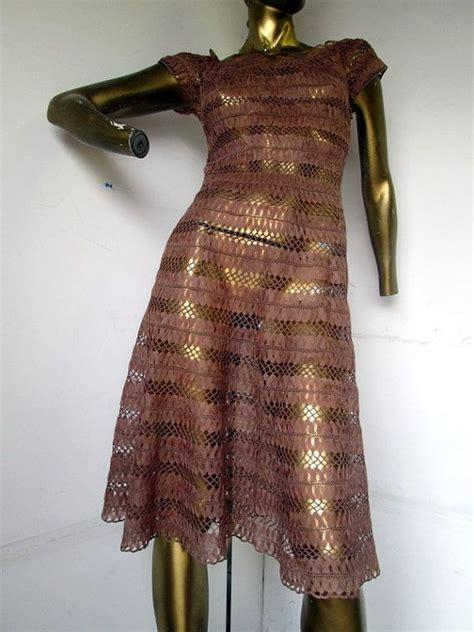 vintage kleider 30er museum w 252 rdig vintage 30er jahre gestricken seidenband