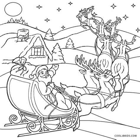 printable santa coloring pages  kids