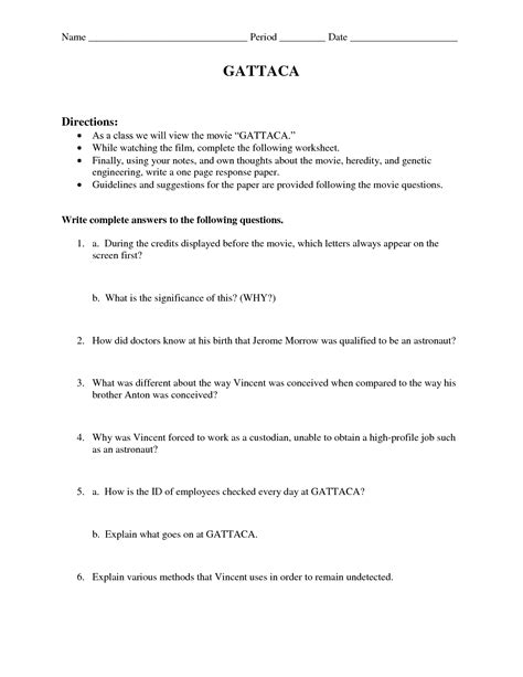 10 Best Images Of Genetic Engineering Activity Worksheet  Genetic Engineering Worksheet