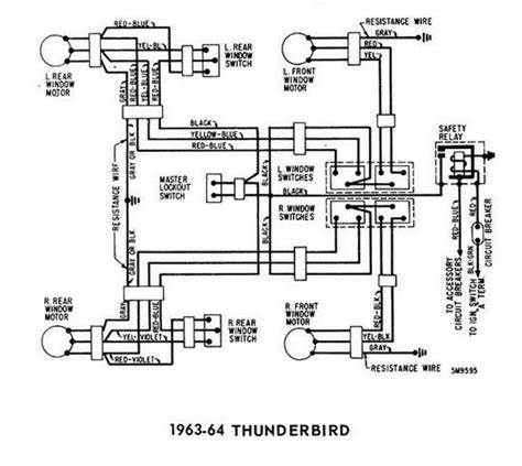 windows wiring diagram for 1963 64 ford thunderbird all about wiring diagrams