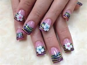 D flowers nail art gallery