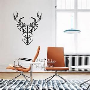 Geometric deer wall sticker modern