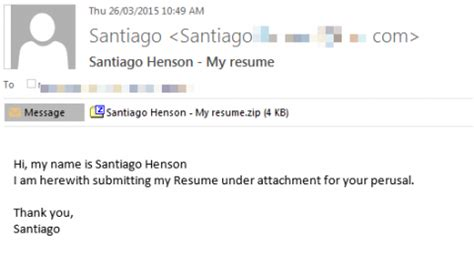 Email Text For Sending Resume by Beware Of Resume Emails Bearing Ransomware Department Of