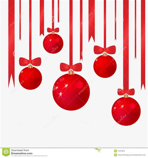 christmas background with fur tree spheres royalty free