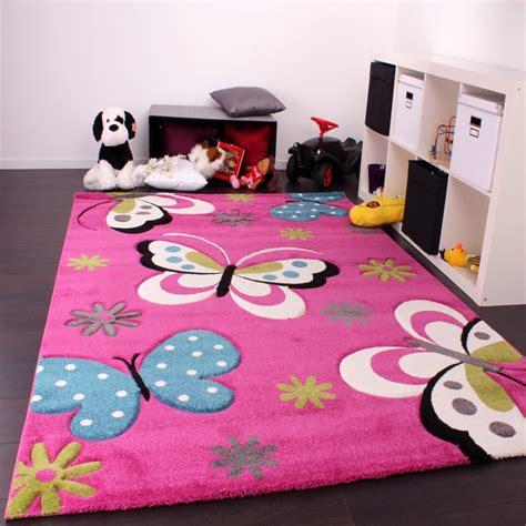 tappeti per bambini tappeto bambini motivo farfalla rosa tapetto24