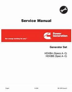 Cummins Onan Hdkba  Hdkbb Generator Repair Manual Download